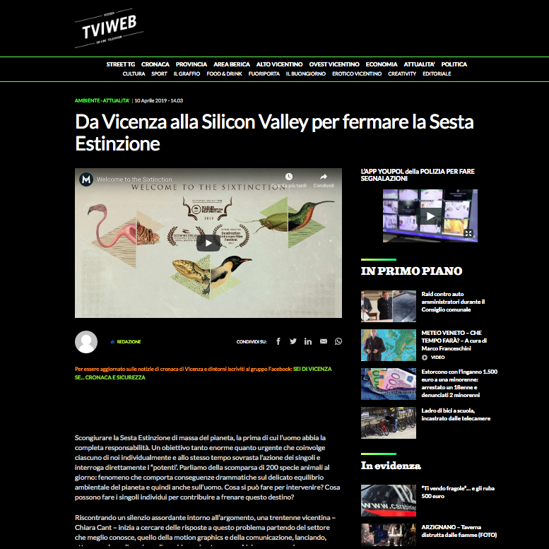 PRESS RELEASE 2- stampa locale VICENZA - tviweb.it